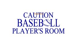 caution baseball player 20x8 angsana new copy