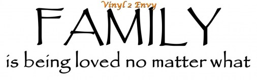 family is loved 18x5 copy1