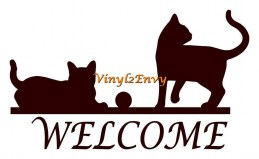 welcome cats 12x7 cccc